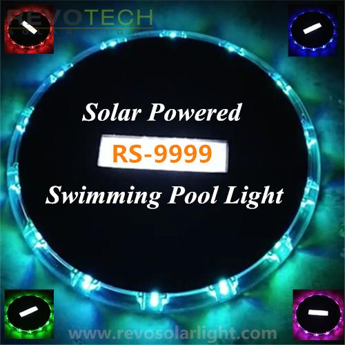 solar powered color changing swimming pool light 9999